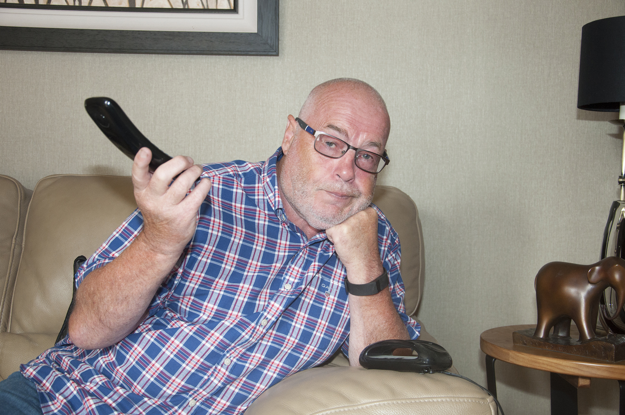 Hanging up - Councillor David Fairweather has been left disgusted by the tales of nuisance callers.