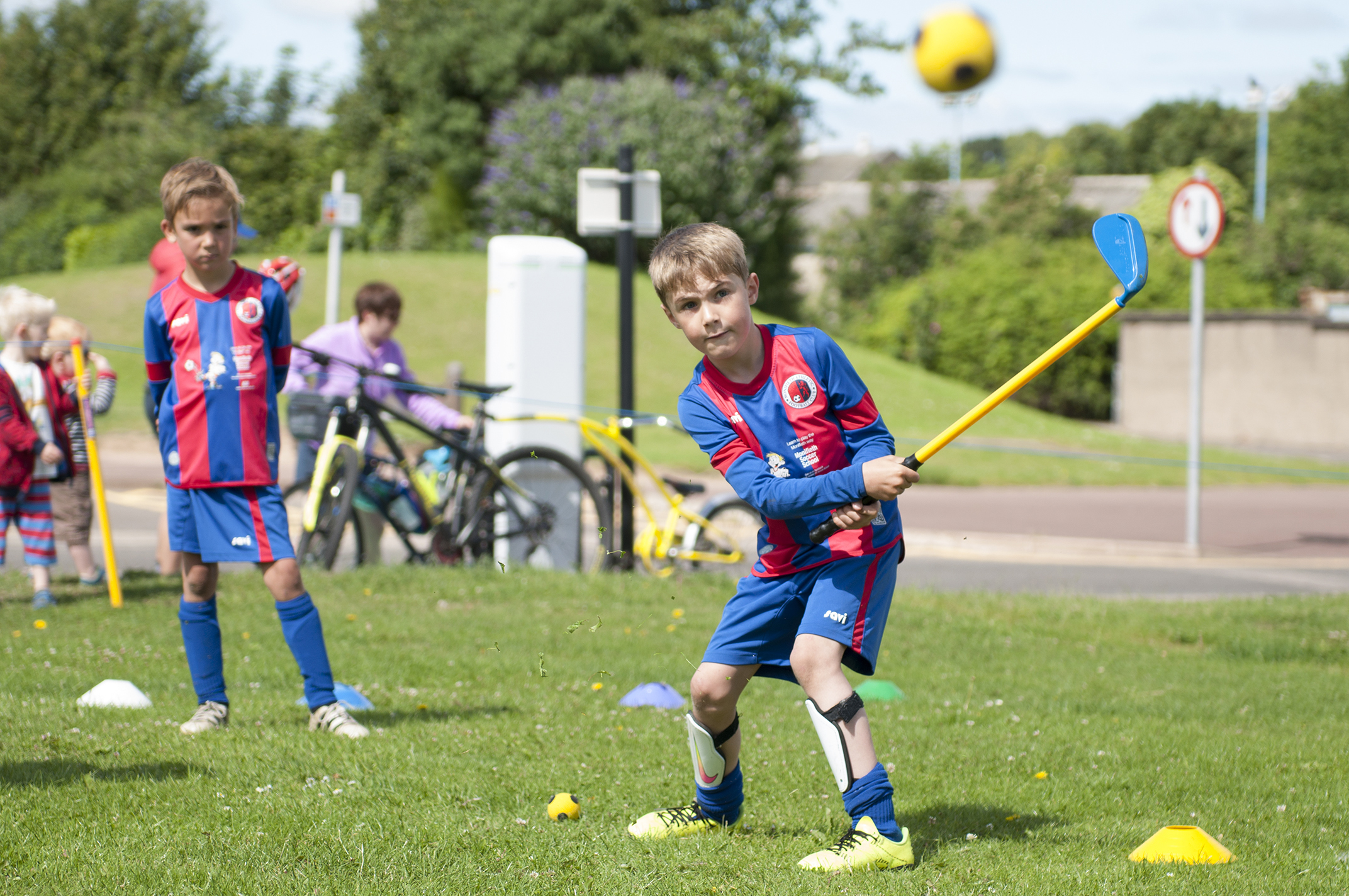 From left, Ethan Flynn and Max Raeside pictured at Saturday's event.