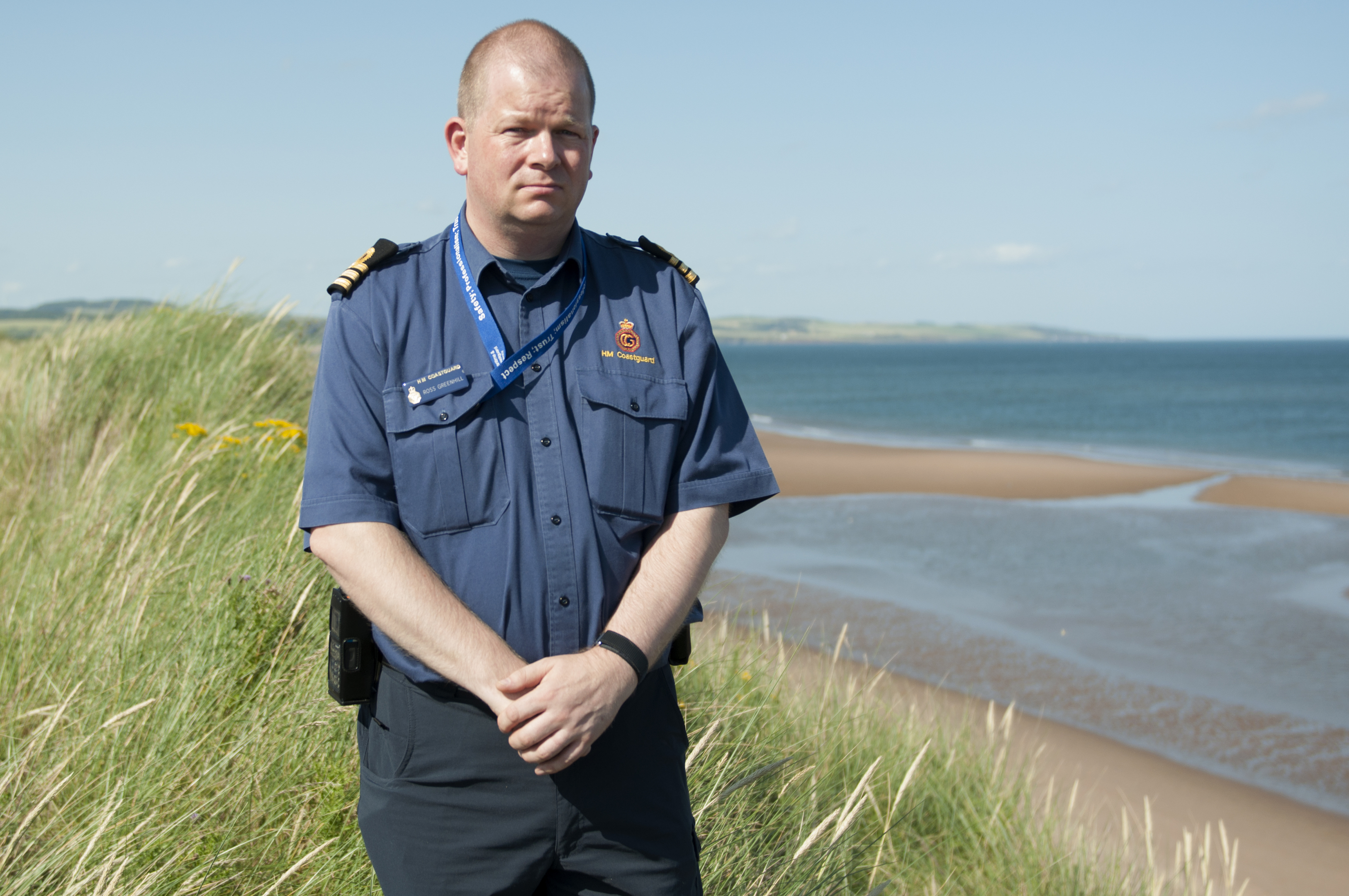 Ross Greenhill, Montrose Coastguard at the accident's location.
