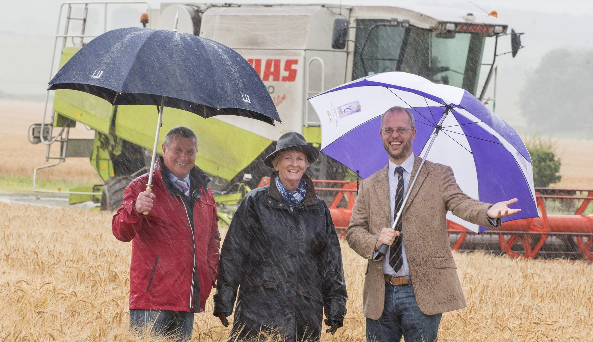 Neil Forbes and Peter Stewart, of Perth Show, with farmer Jean Ralston.
