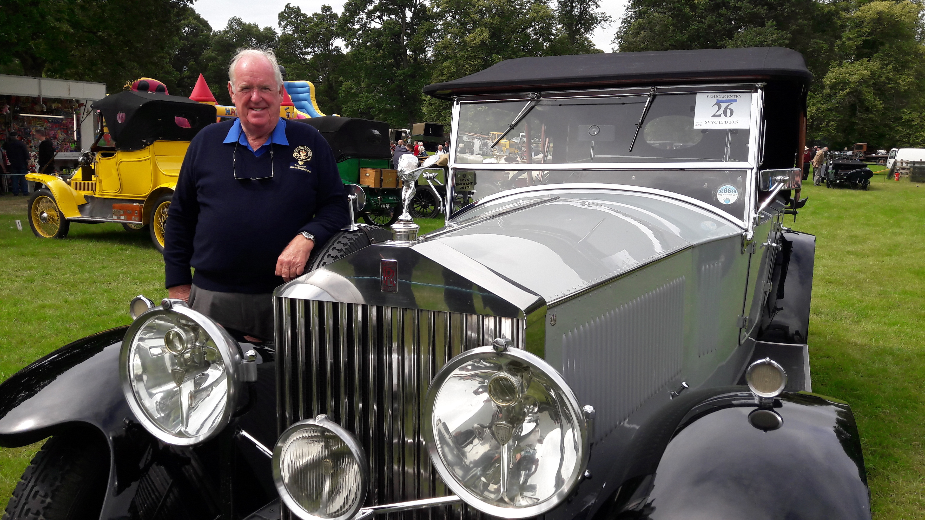 David Robertson and his Rolls Royce Phantom II