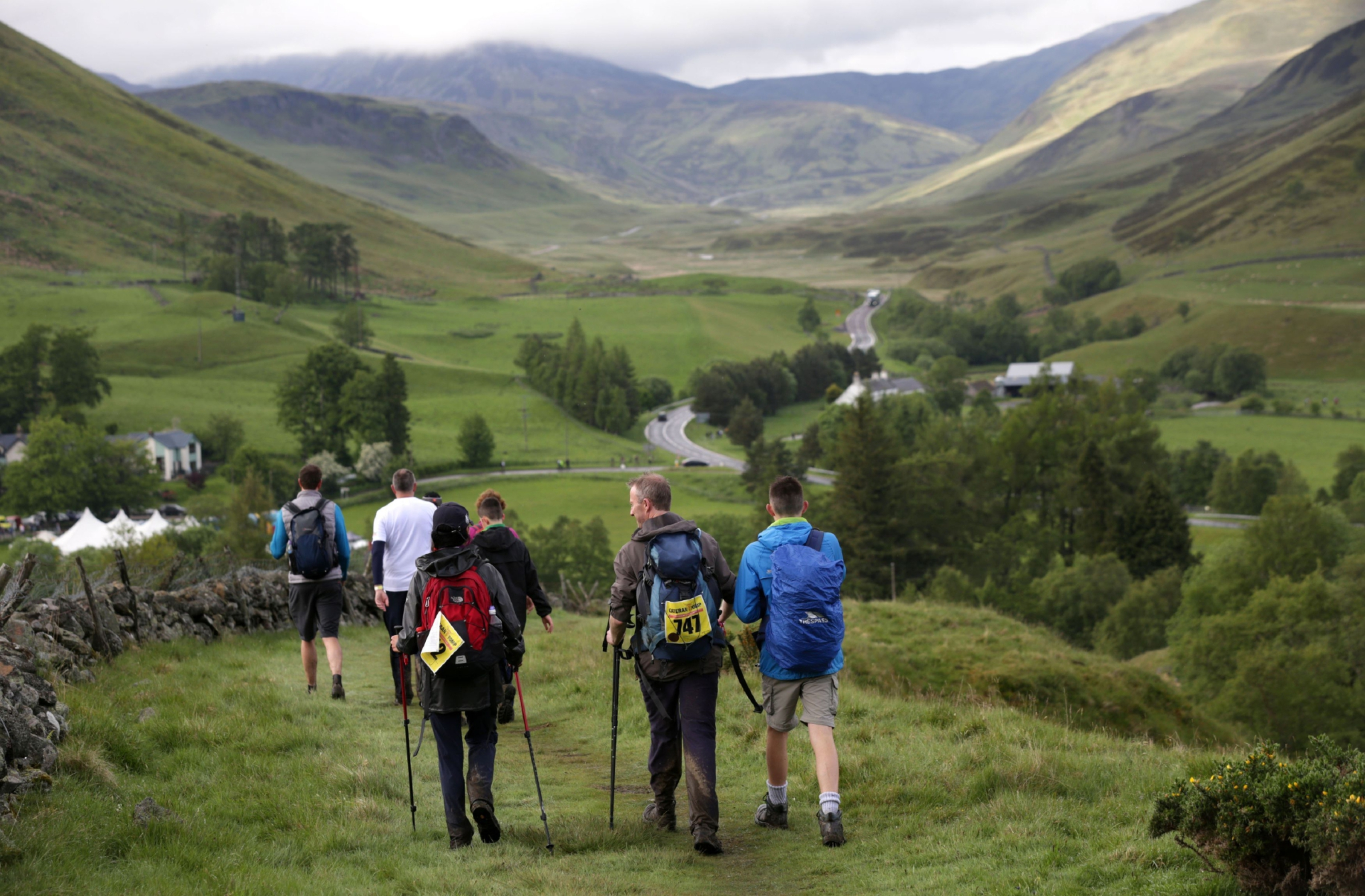 Walkers on the Cateran Trail.