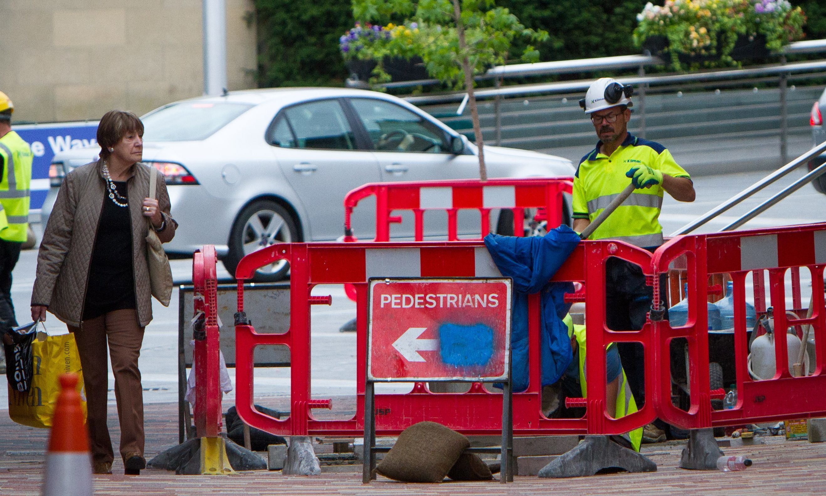 Work being carried out at the scene: Skinnergate, Perth.
