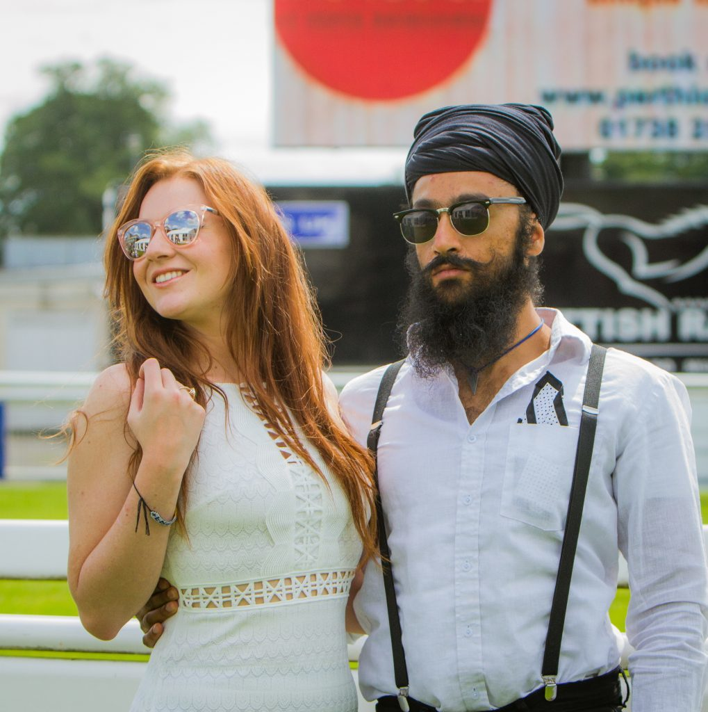 Picture shows Sophie Carsley and partner Sati Singh (from Glasgow).