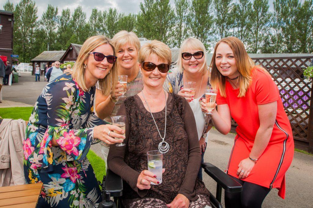 Ann Christie (from Newburgh) alongside (left to right), Tracey Dow (Newburgh), Jan Fairlie (Arbroath), Linda Steven (Dunshalt, Fife) and Lindsay Christie (Newburgh, Ann's daughter).