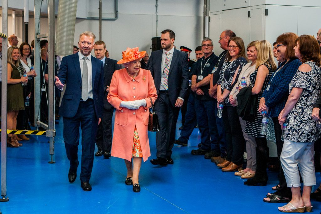 The Queen meeting crowds alongside Les Montgomery.
