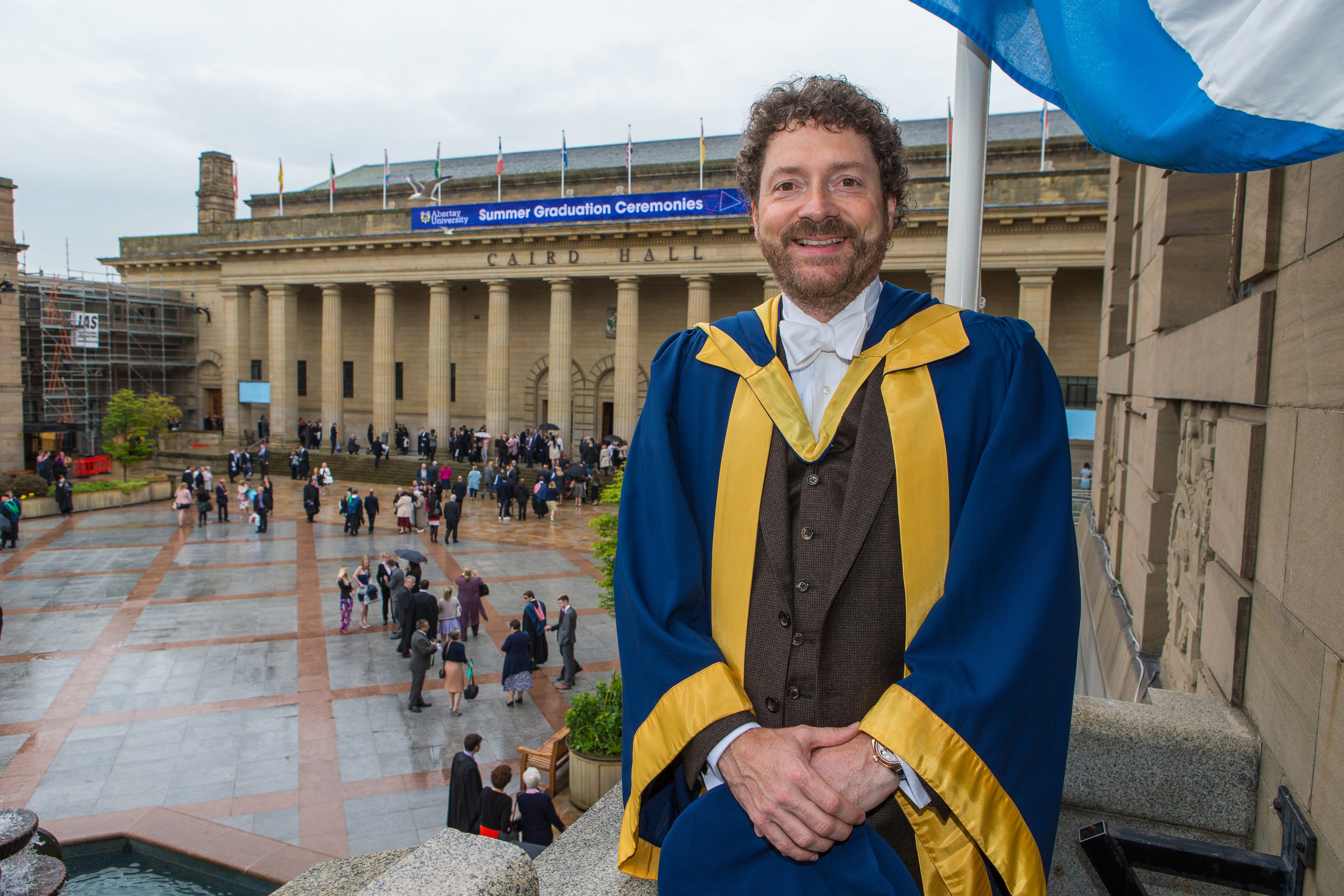 Dundonian Chris van der Kuyl received an Honorary Doctorate of Technology