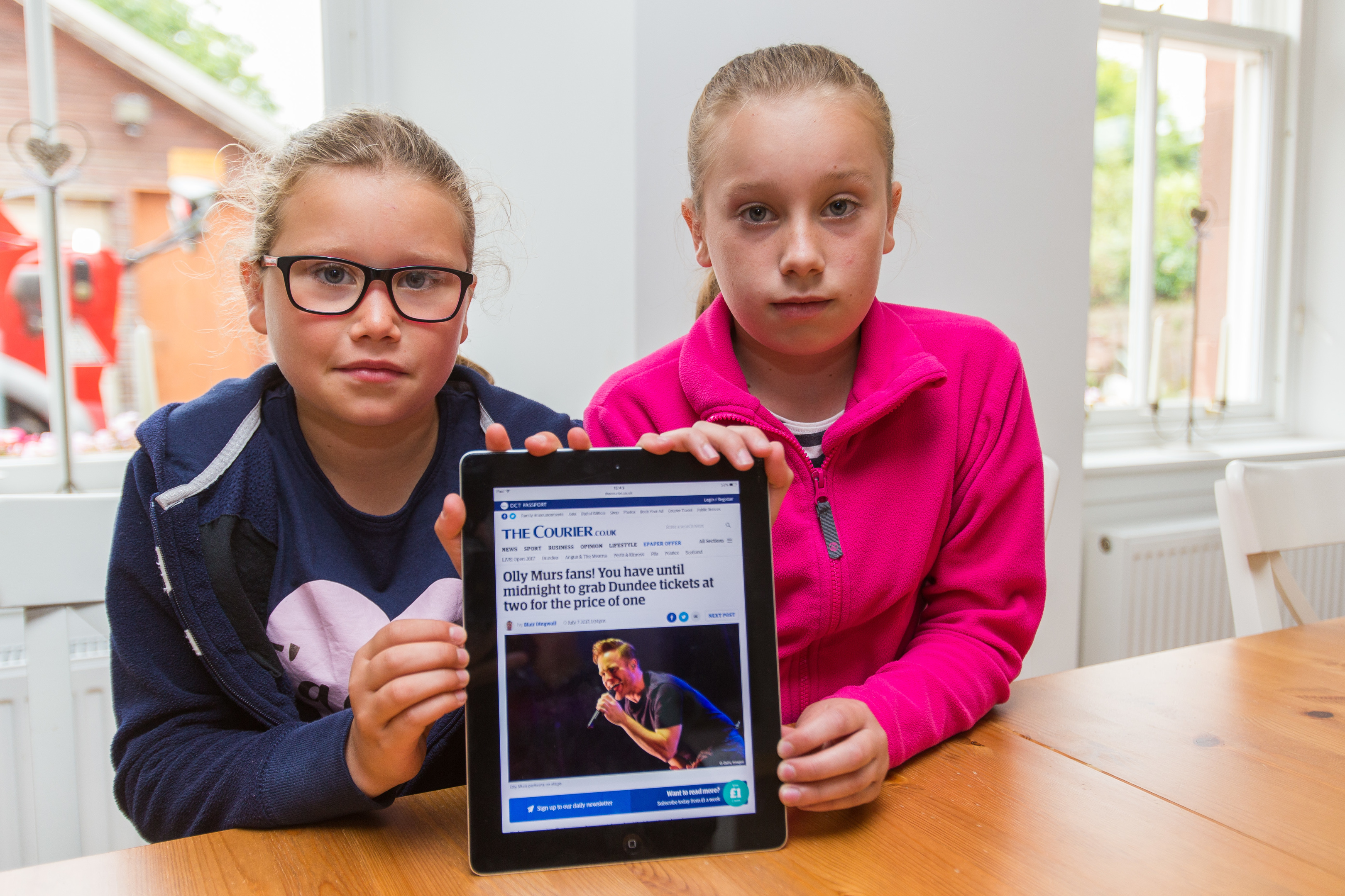 Molly and Mya's mum Karen was able to buy a second set of tickets after seeing an offer highlighted by The Courier.
