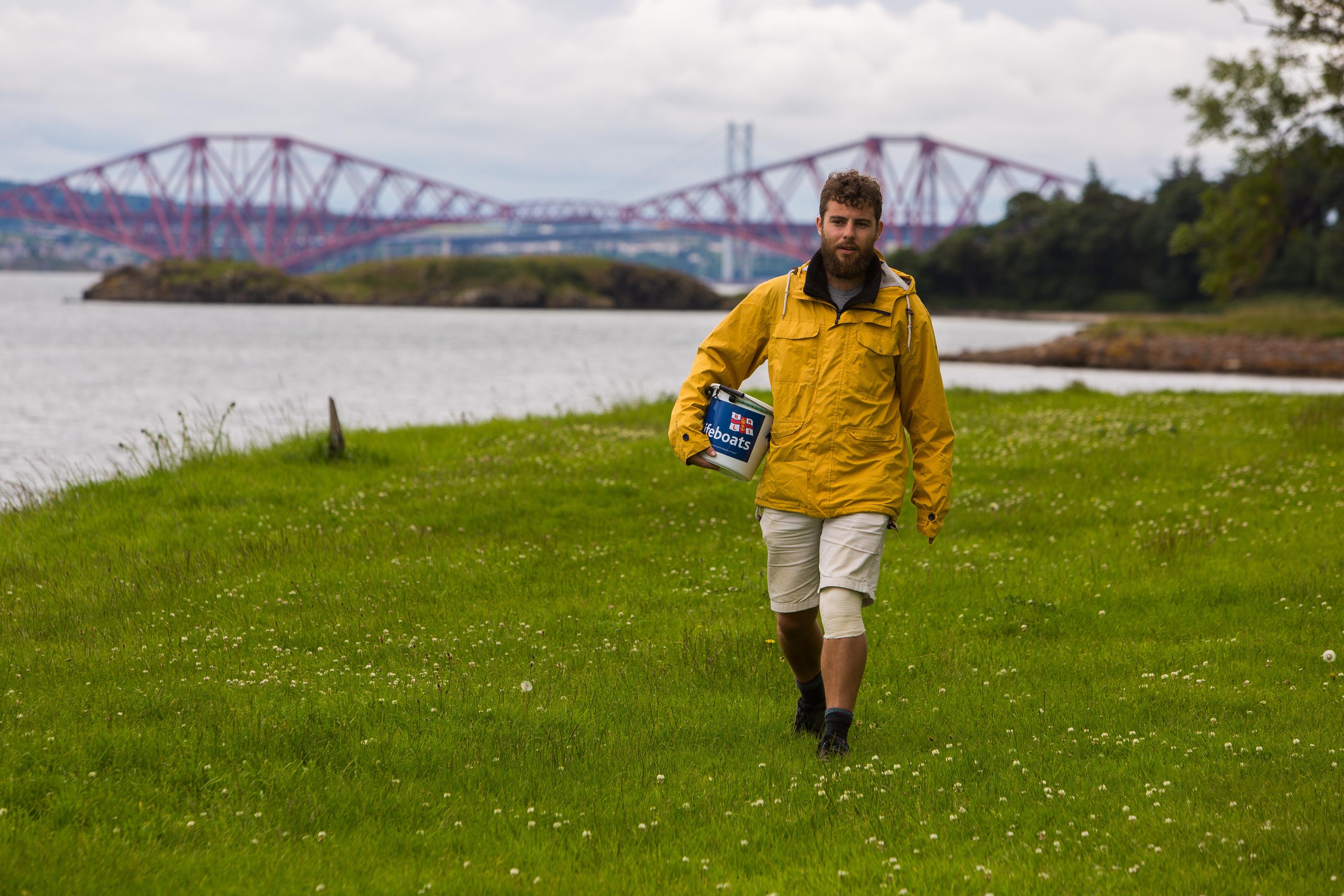Fundraising walker Alex Ellis-Roswell on his walking journey.