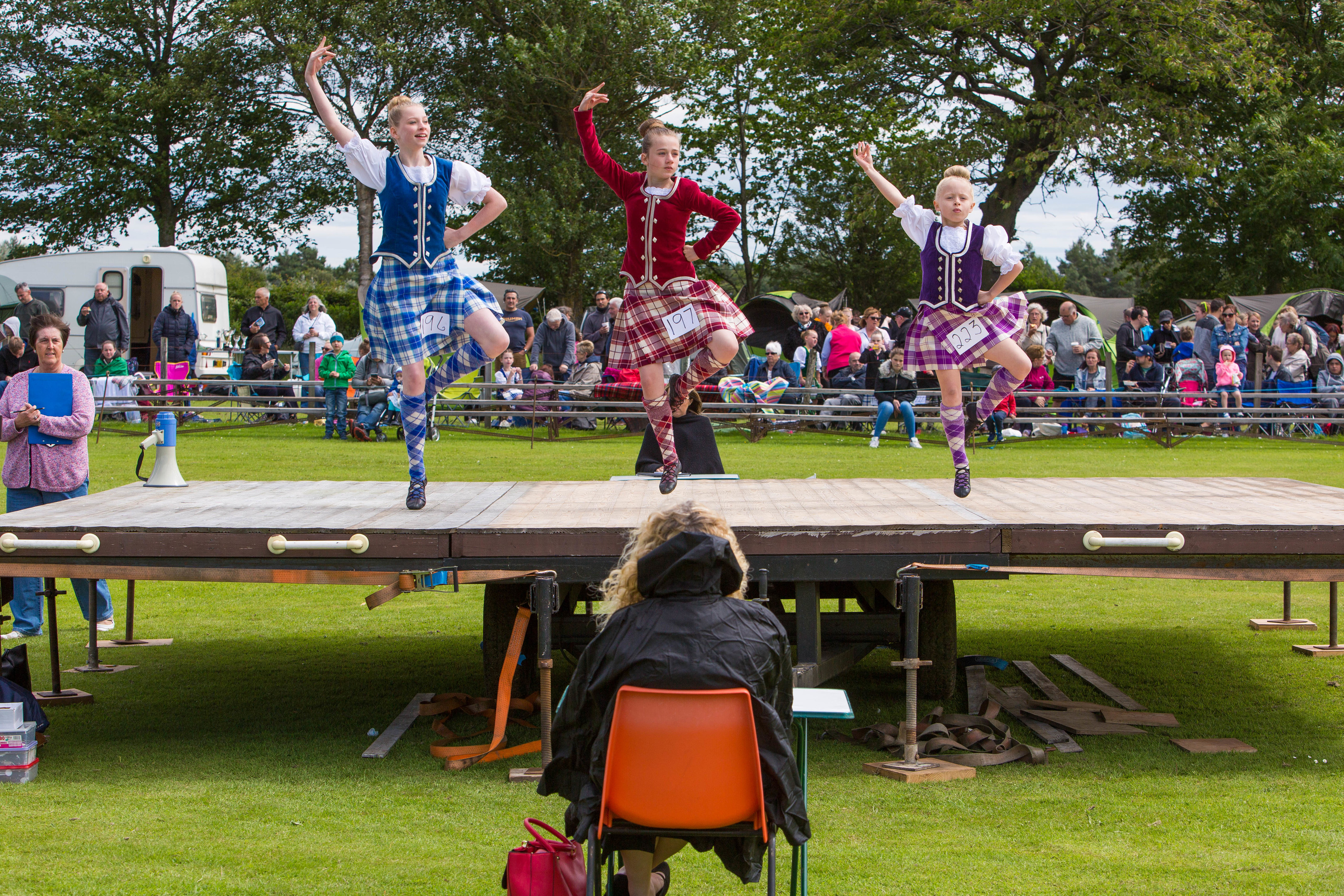 Highland Dancers take to the stage at Thornton Highland Games.