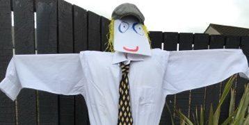 The scarecrow was stolen from Balgillo nursery.