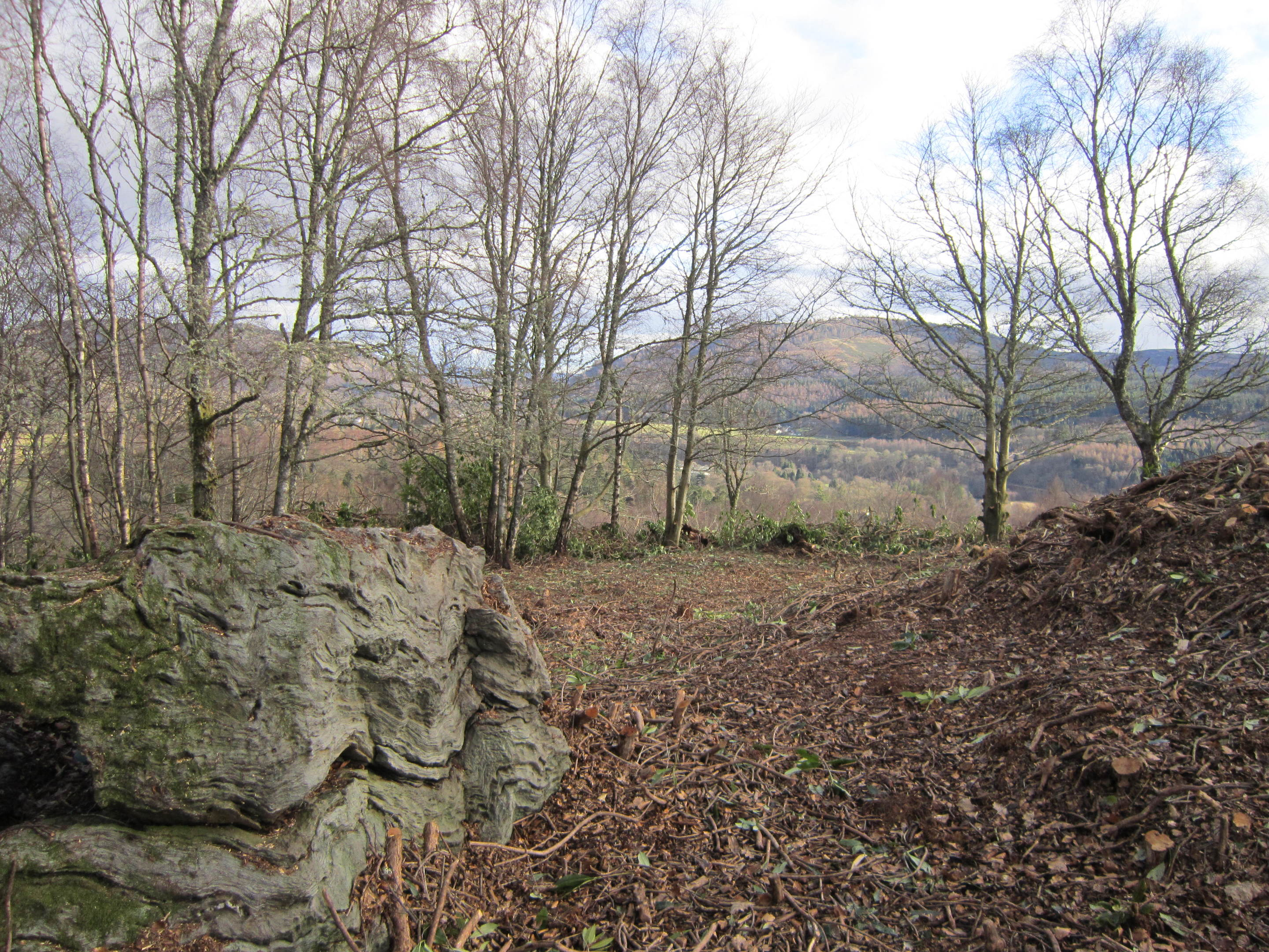 The King's Seat near Dunkeld and the views from the top.