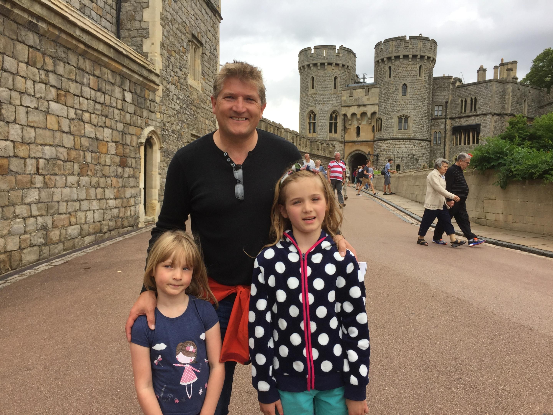 The McKelvies inside Windsor Castle.