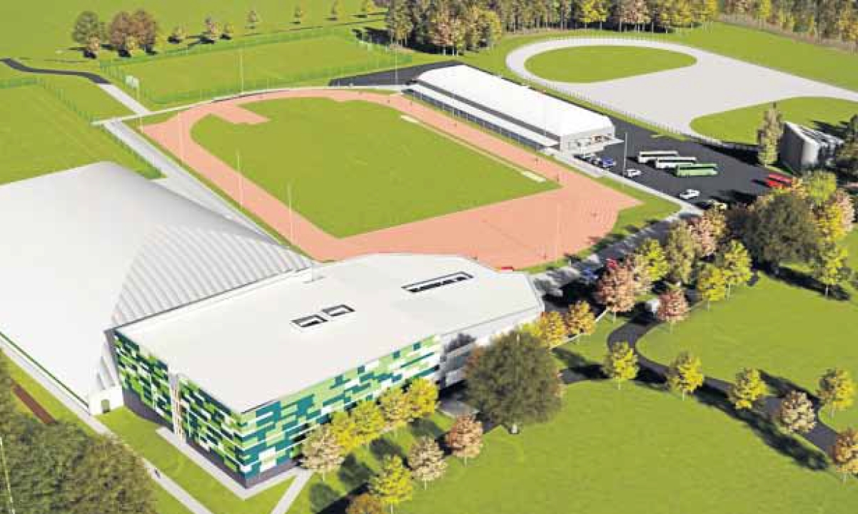 An artist's impression of the planned sports centre at Caird Park.
