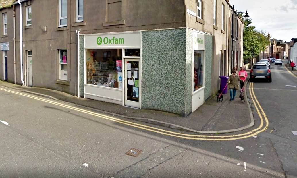The Oxfam shop in Montrose.