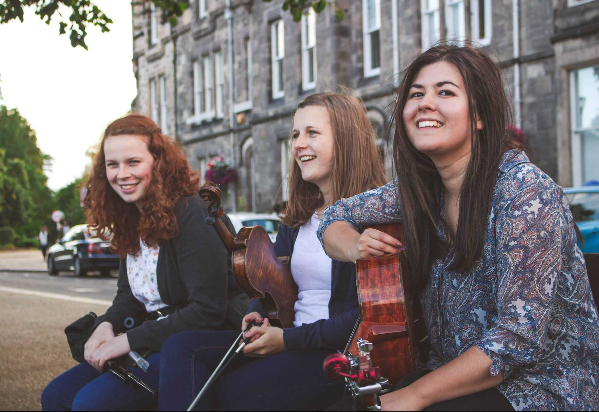 Hecla, a trio from the Outer Hebrides, who are to perform in Aberfledy.