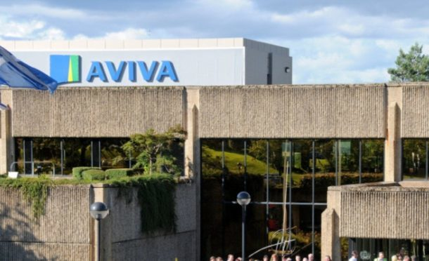 The Aviva offices at Pitheavlis in Perth.