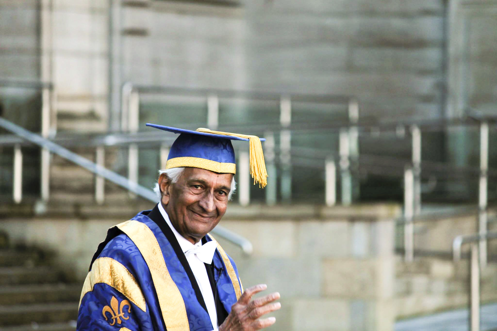 Lord Patel is stepping down as Dundee University Chancellor.