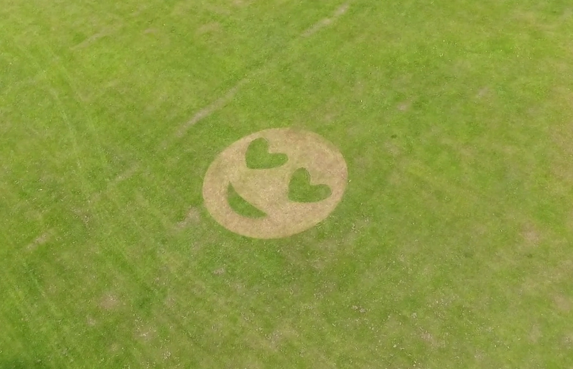 The Dudhope Park emoji from the skies.