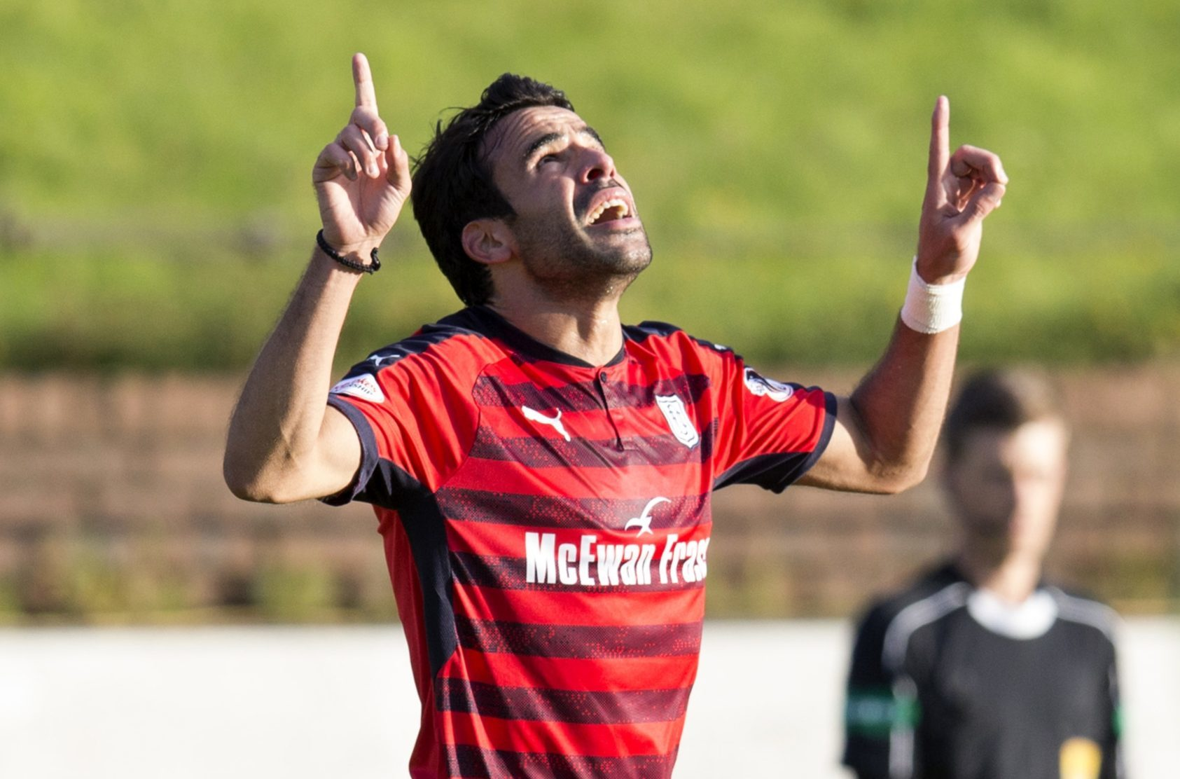 Sofien Moussa celebrates his first goal.