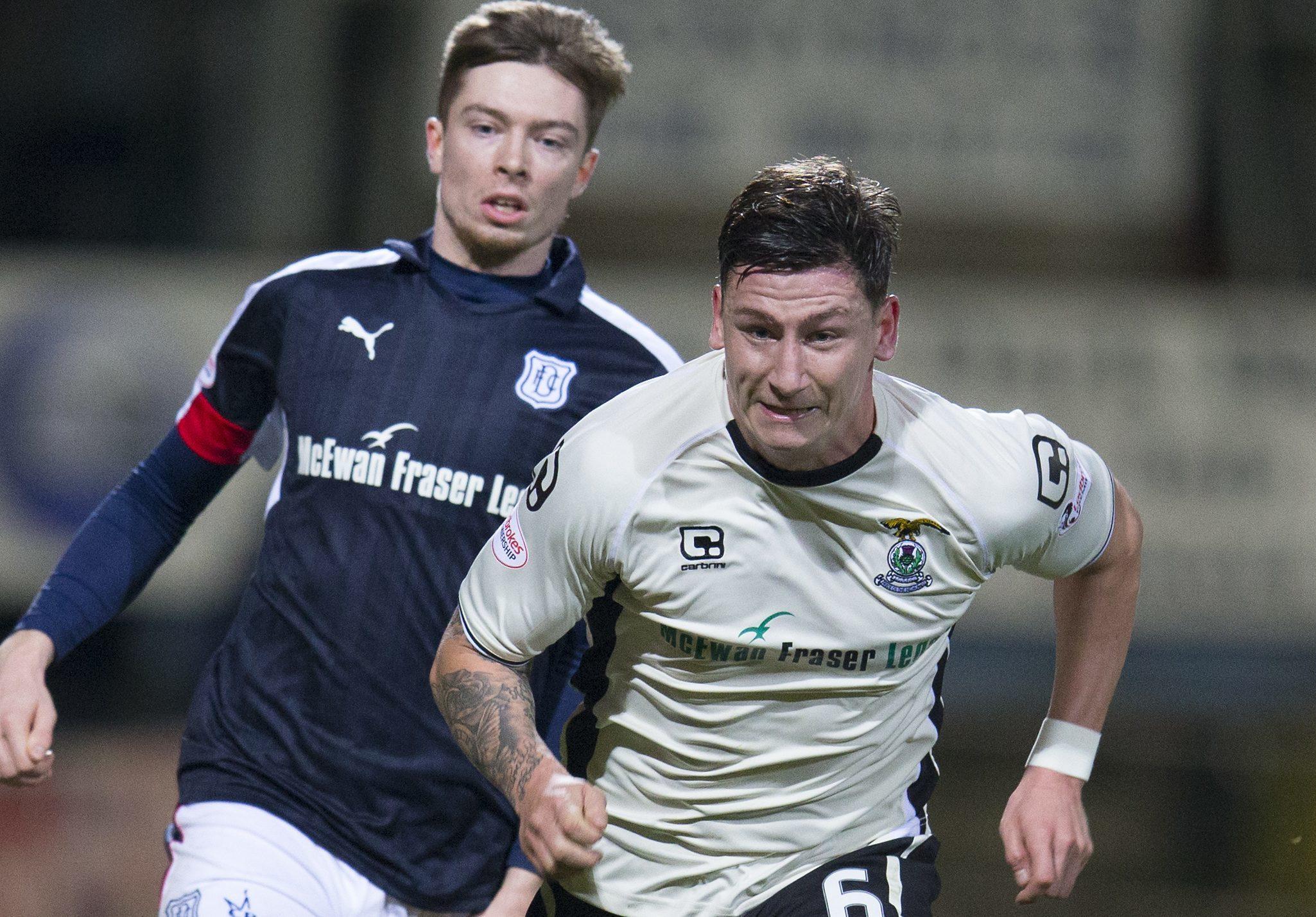 Josh Meekings in action against his new club.