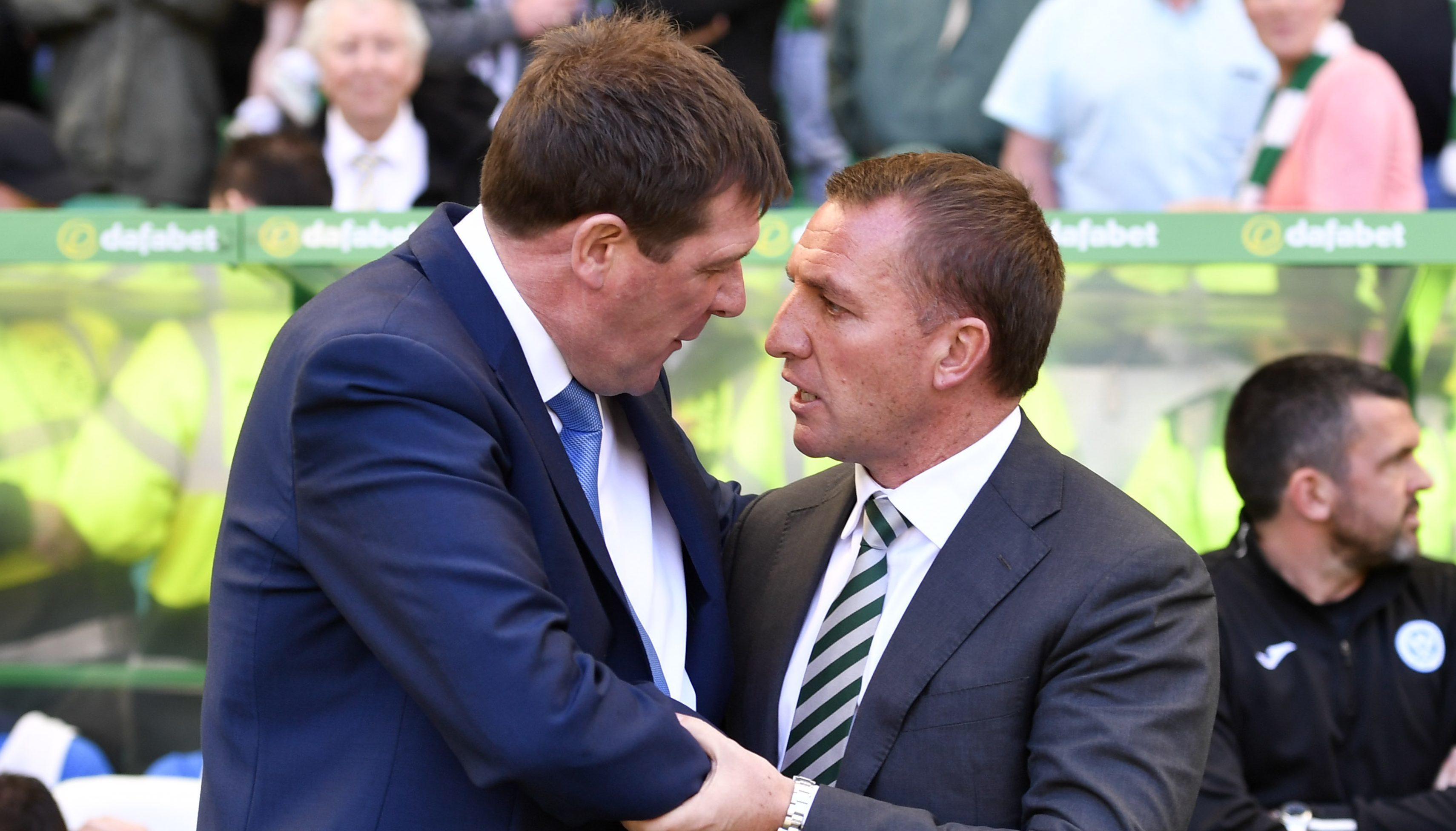 Tommy Wright and Brendan Rodgers.