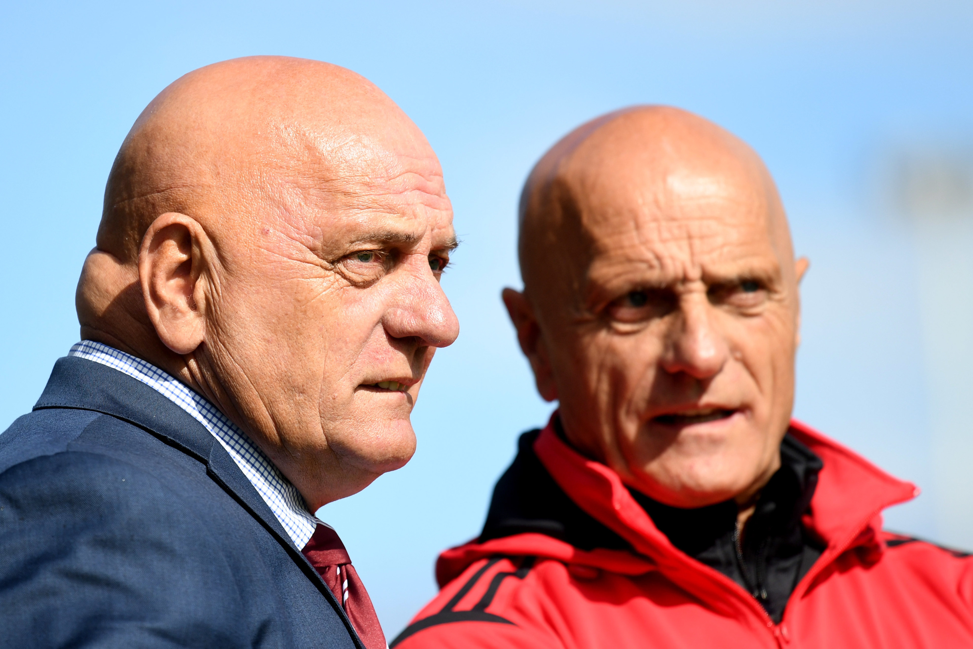 Arbroath manager Dick Campbell and his brother Ian.