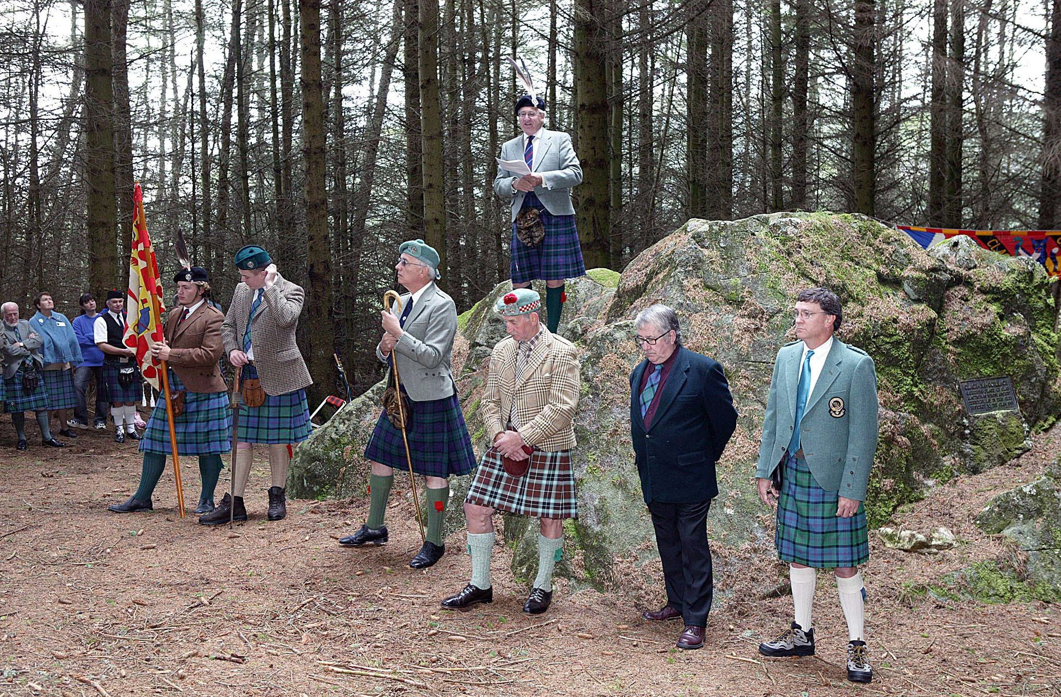 A previous gathering of the Clan MacThomas in Glenshee.