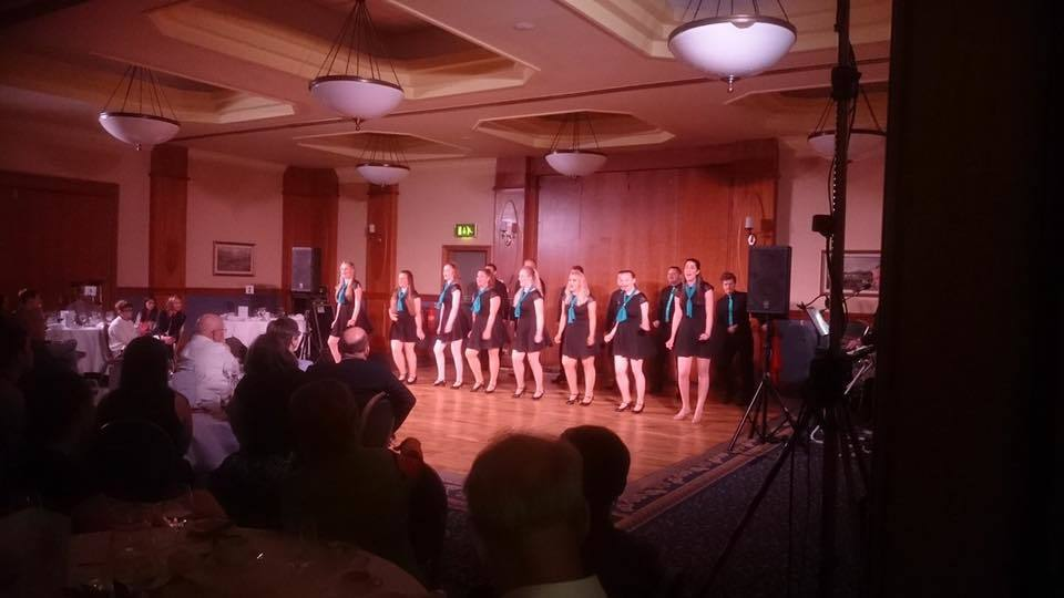 Downfield Musical Society entertain the party.