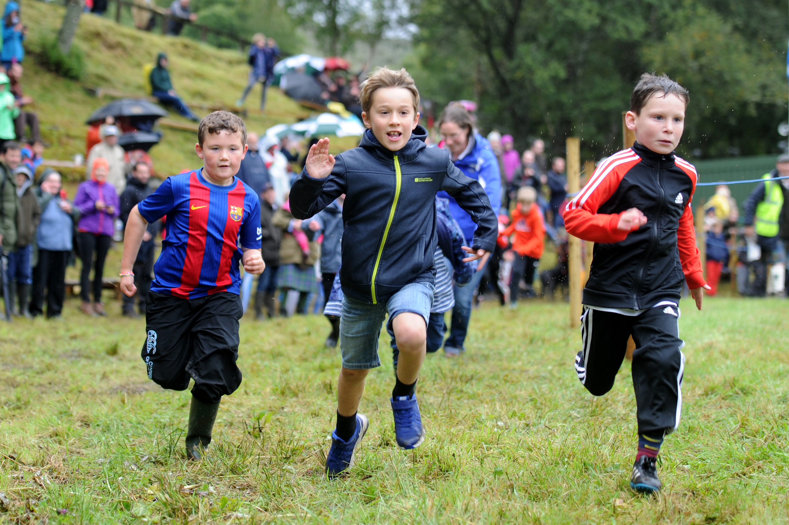 Action from the boys' races
