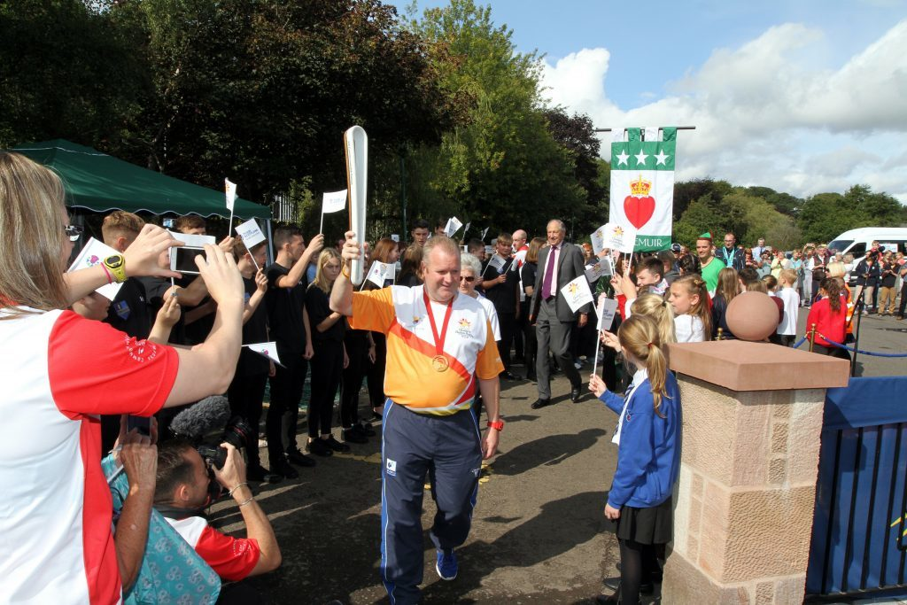 The Queen's Commonwealth Baton visits Kirriemuir