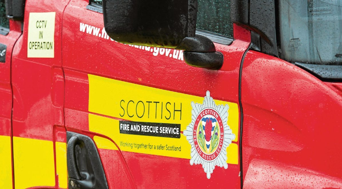 Fire crews were called to rescue two walkers stranded at the Fife beauty spot.