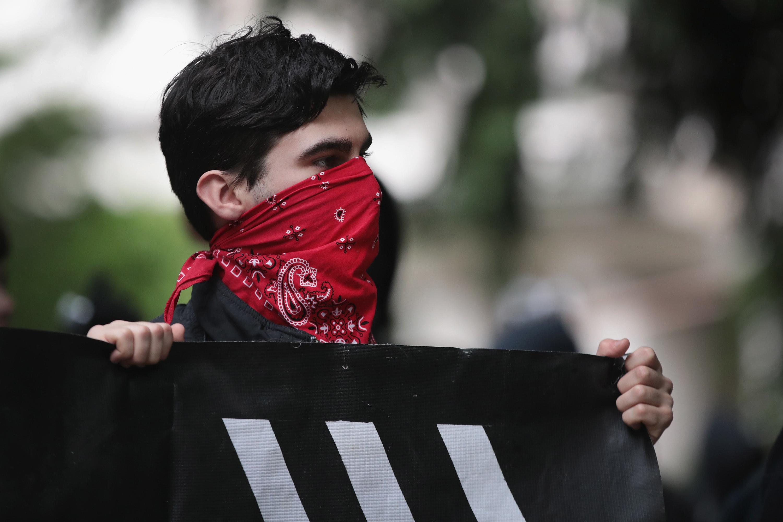 Antifascist demonstrators in Portland, Oregon.