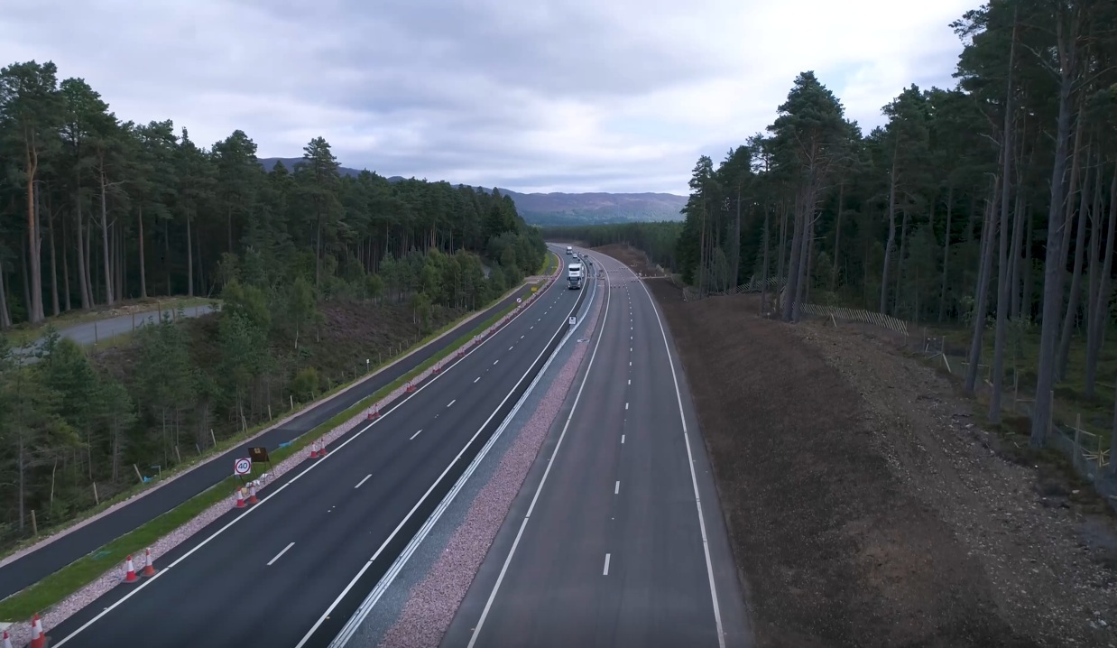 The Kincraig to Dalraddy dualling is almost complete.