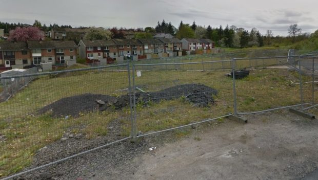 Land earmarked for three housing blocks at Allison Crescent.