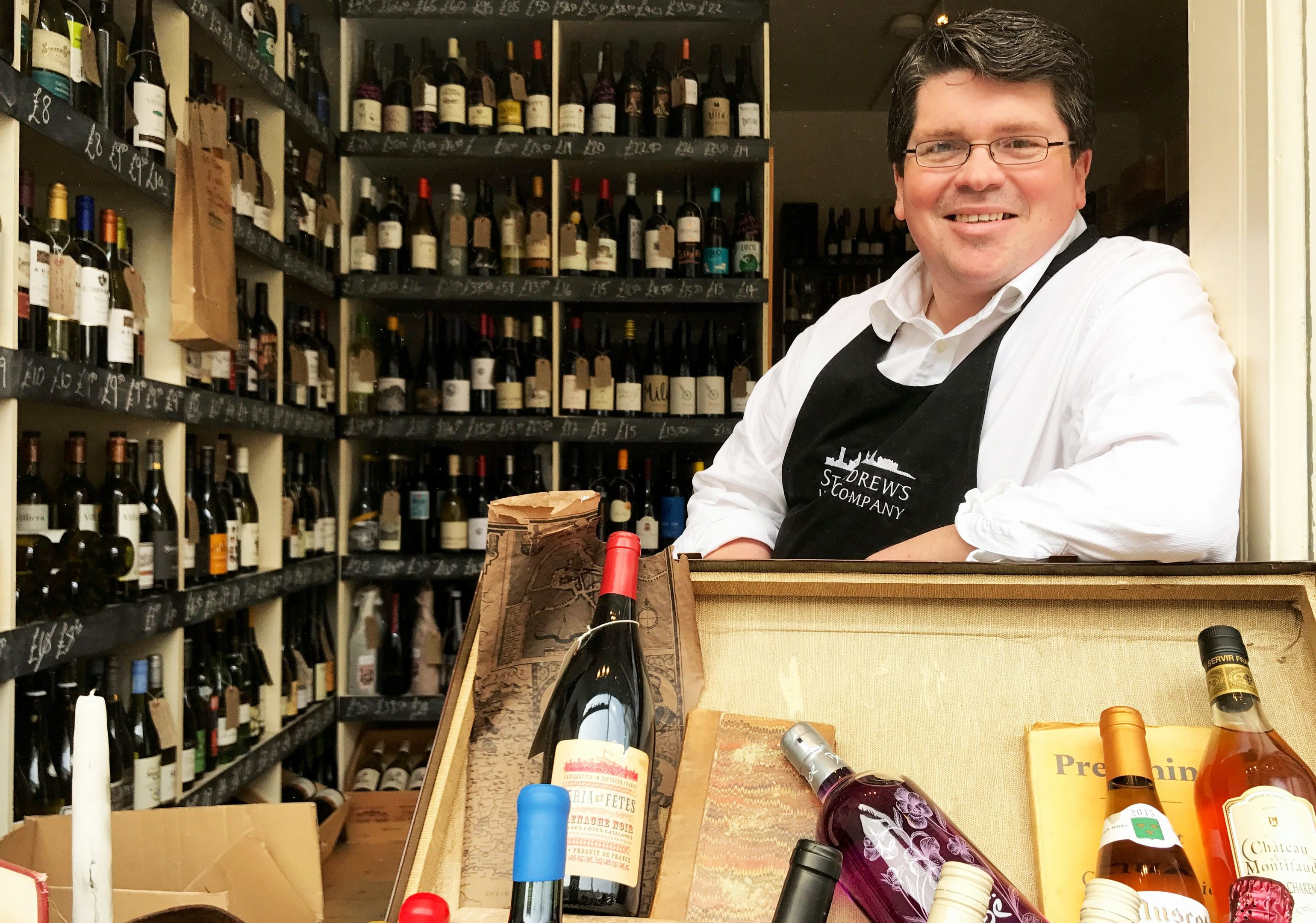 Peter Wood is founder of the St Andrews Wine Company