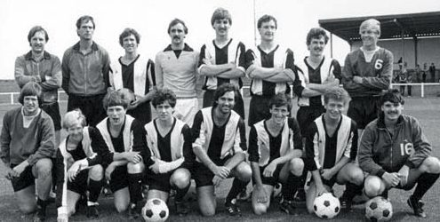 Manchester United legend George Best lining up with Arbroath Vics in 1982.