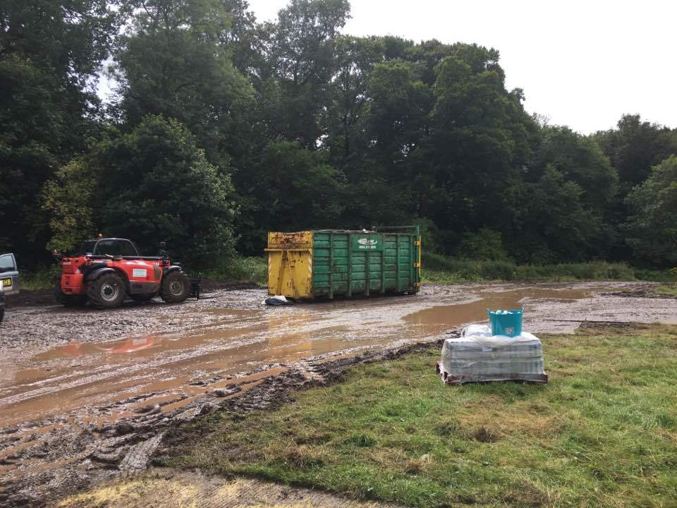 parts of Camperdown Park are still muddy after the festival.