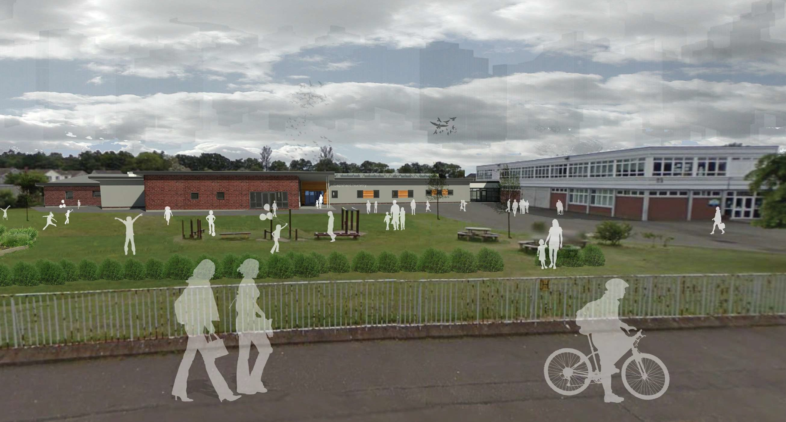 An artist impression of how the new extension will look.