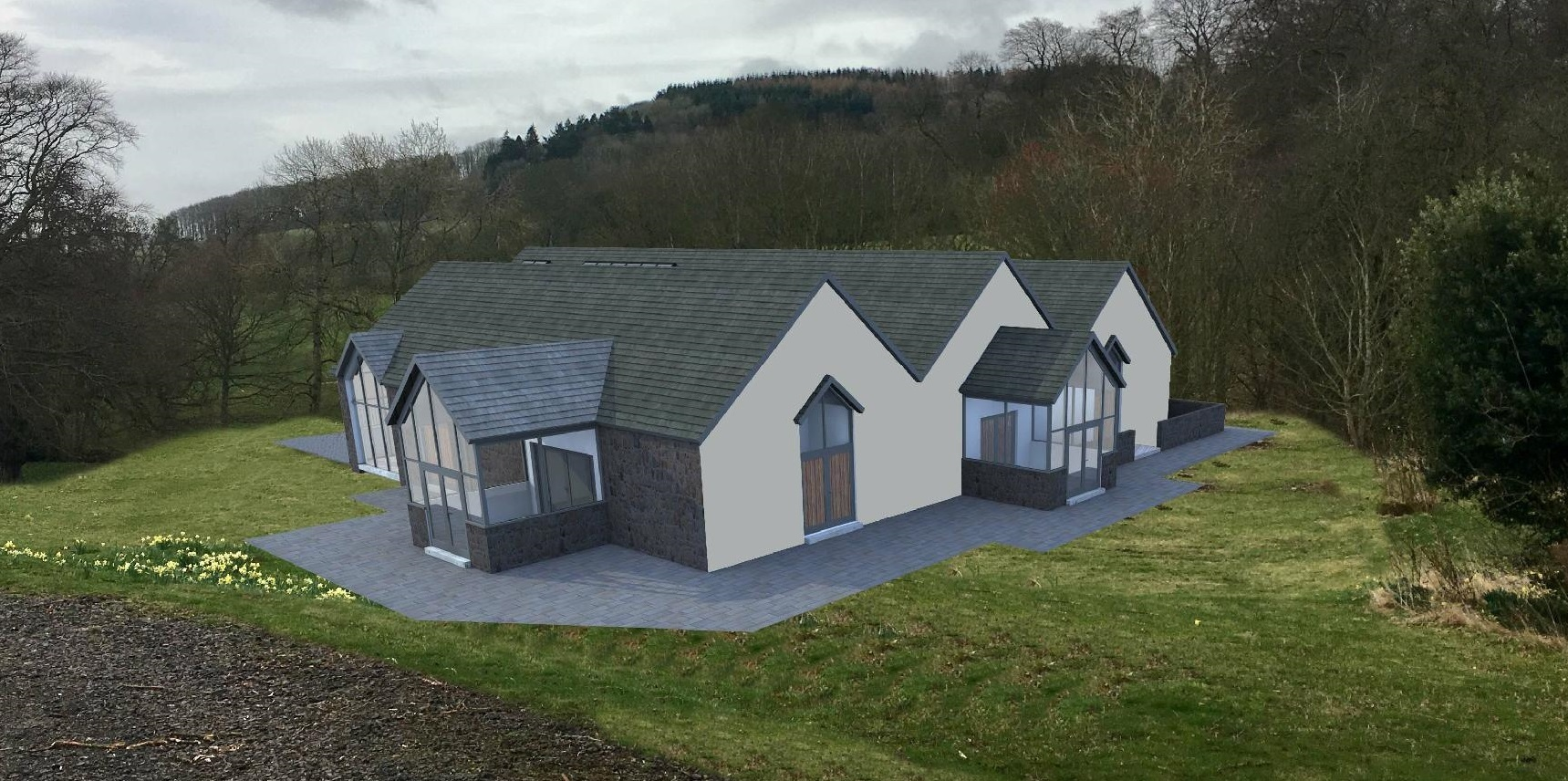 An artist's impression of the proposed new venue at Carphin House.