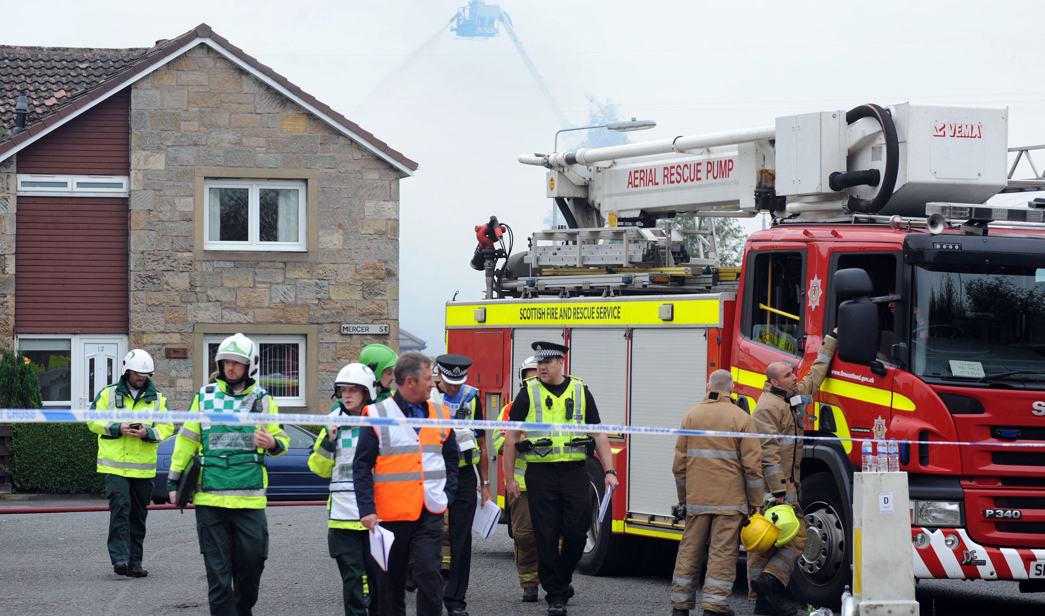 Forth Bay nursing home at the height of the blaze.