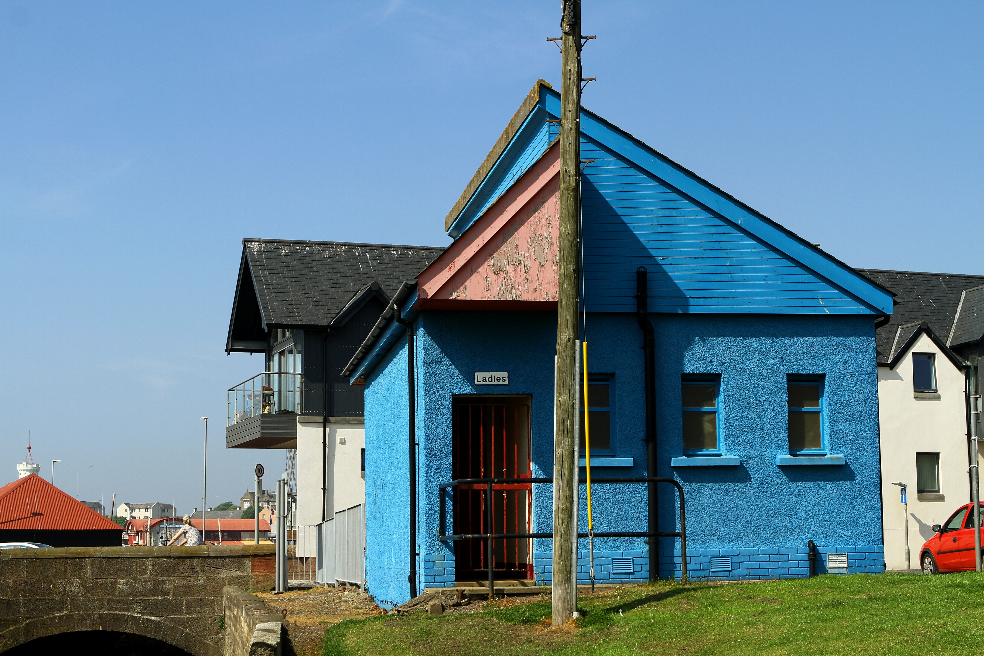 The controversial blue loo
