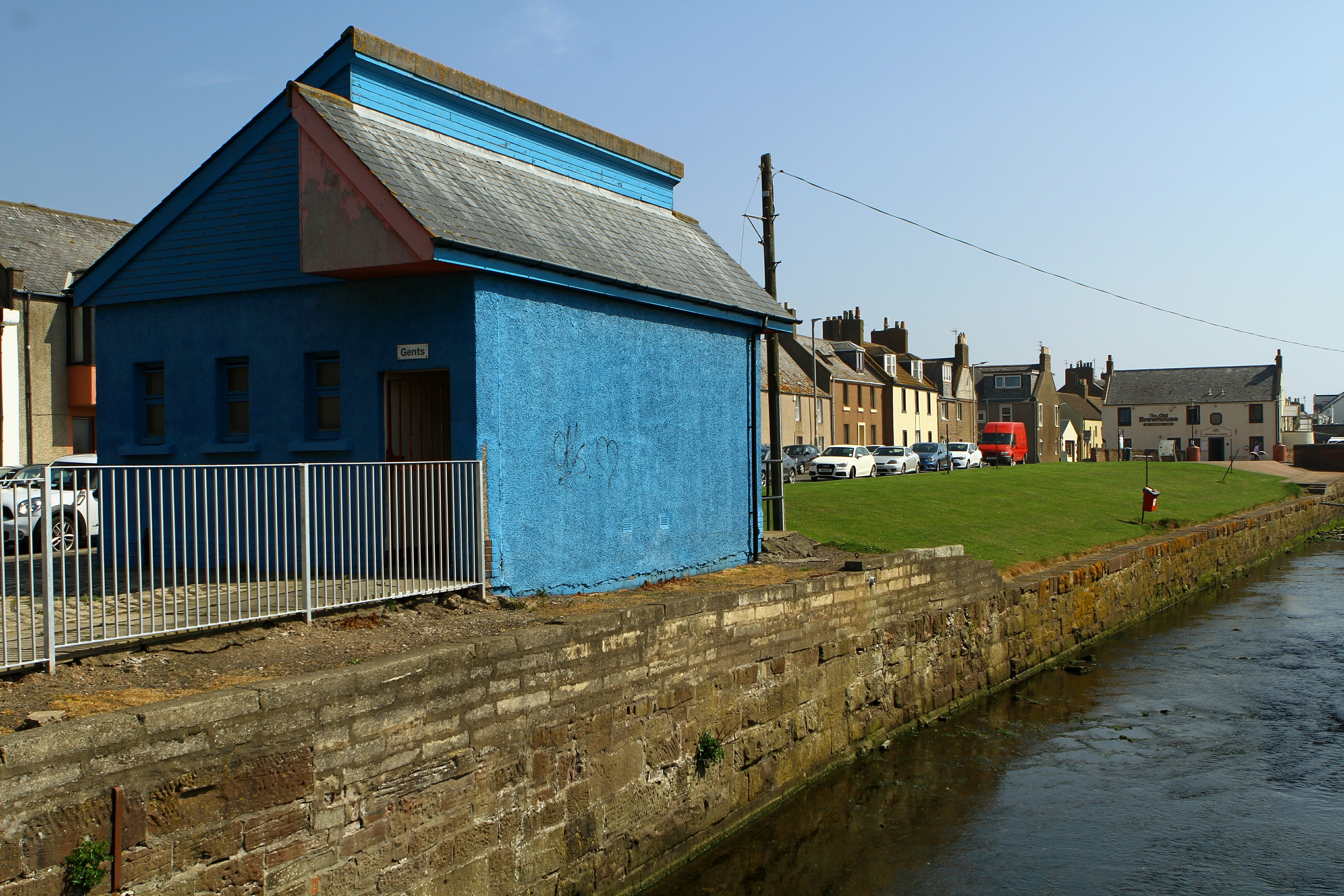 The former public toilet at Old Shore Head in Arbroath
