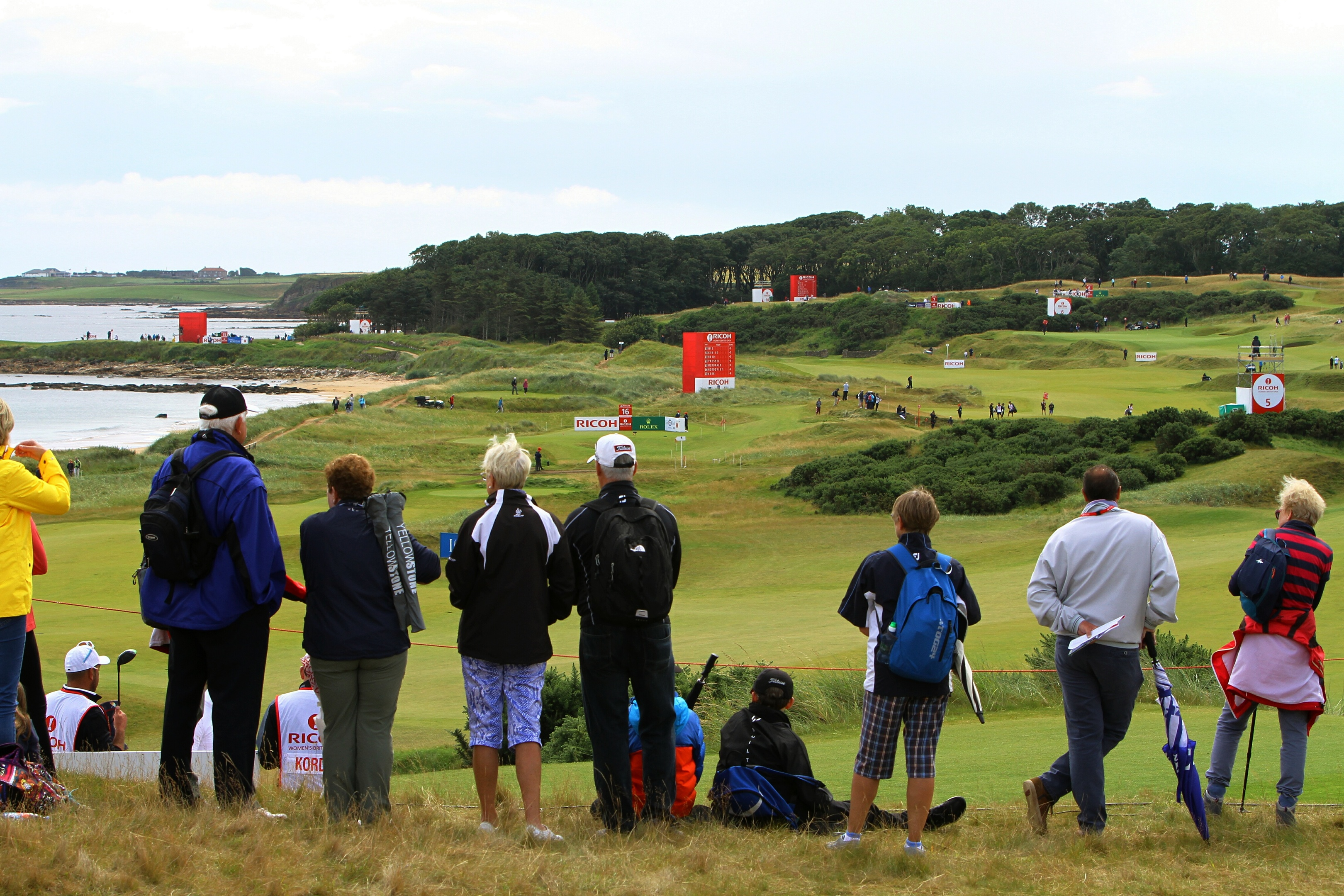 Women's Open at Kingsbarns saw beach car park shut