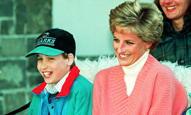 Prince William with his mother, Diana, Princess of Wales, in 1994