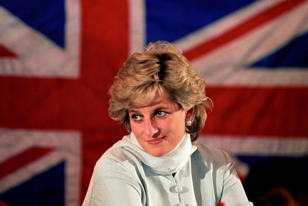 Diana, Princess of Wales, pictured in February 1996