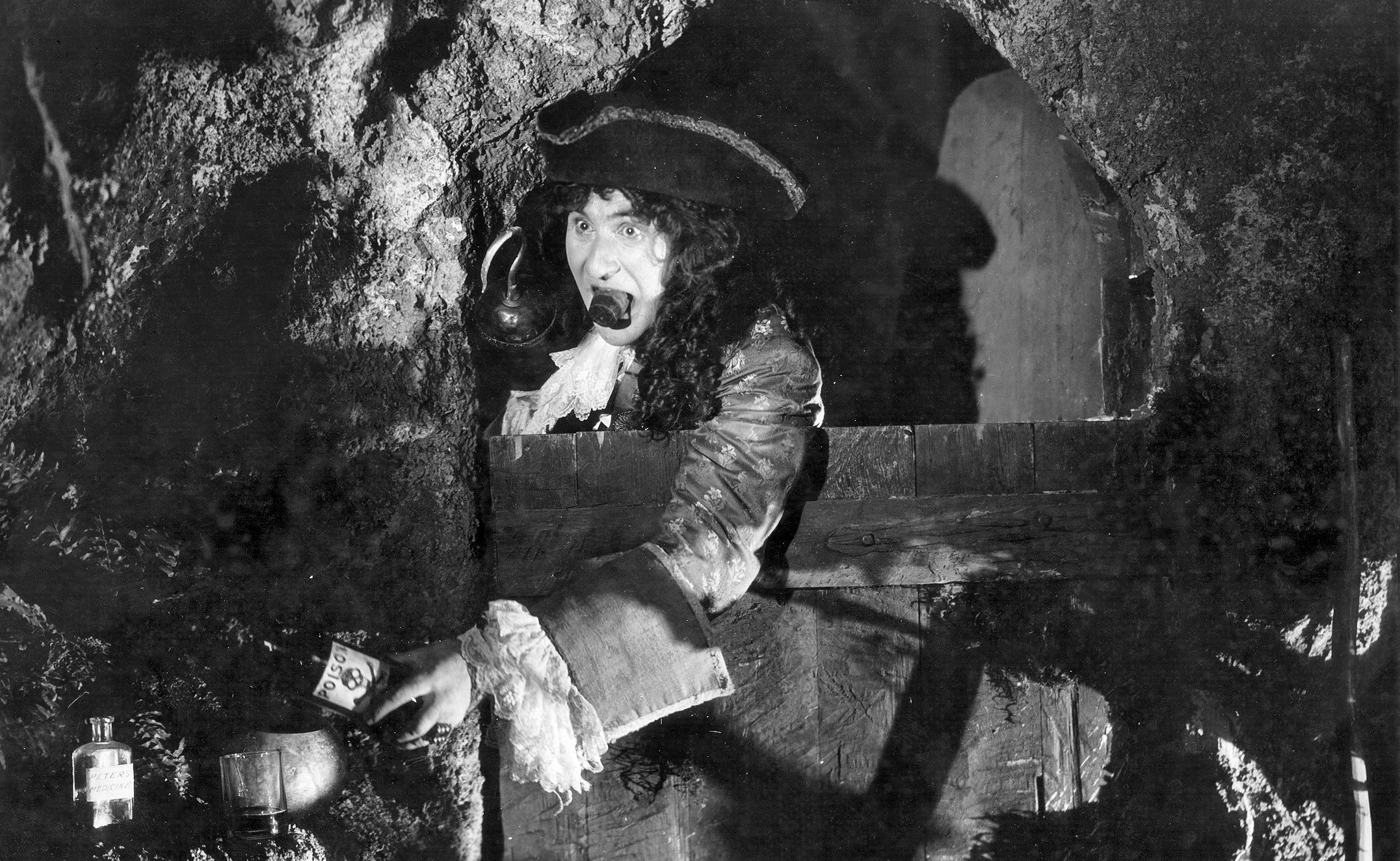 A scene from the classic 1924 movie featuring Ernest Torrance as Captain Hook.