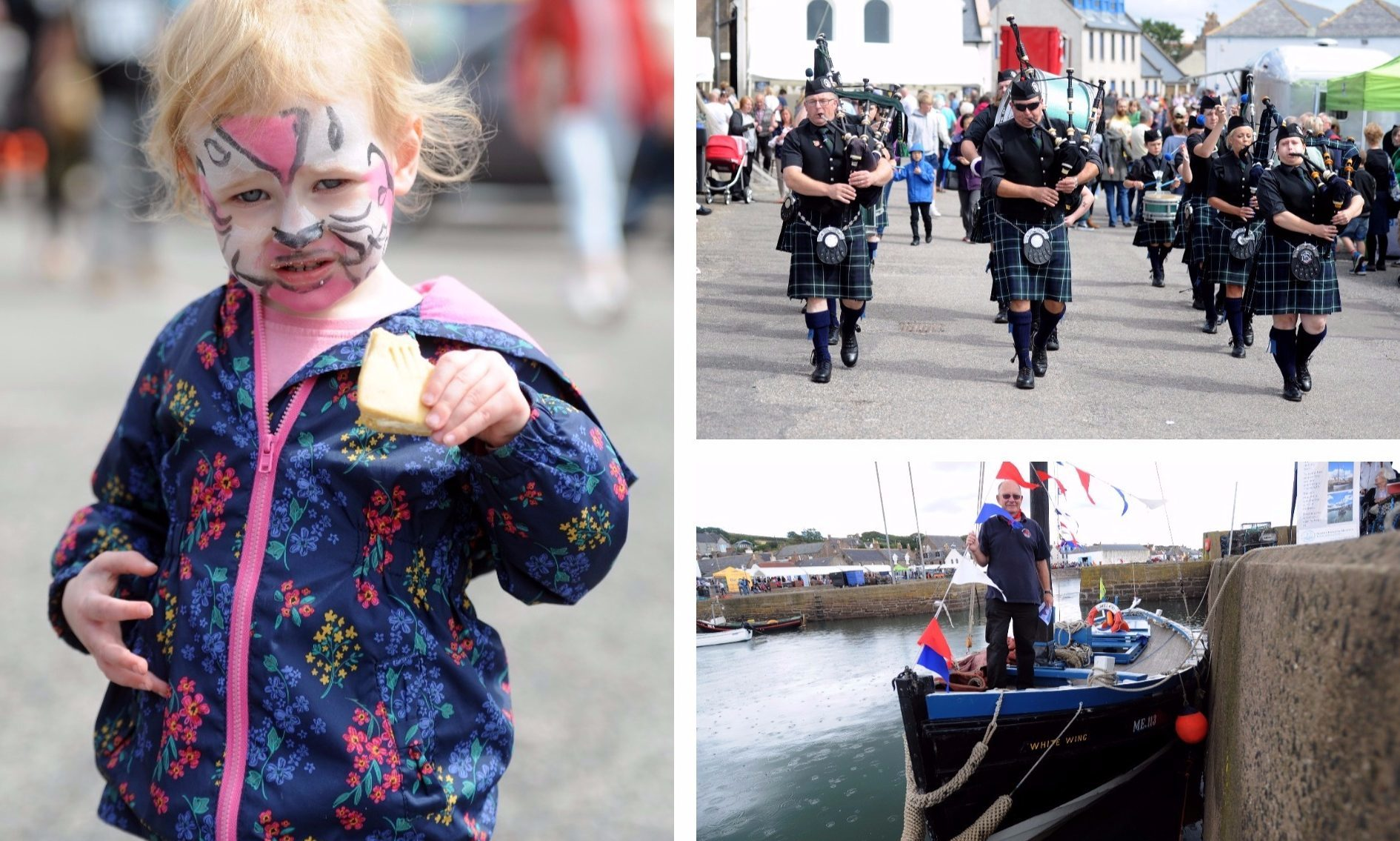 Crowds enjoy Johnshaven Fish Festival.