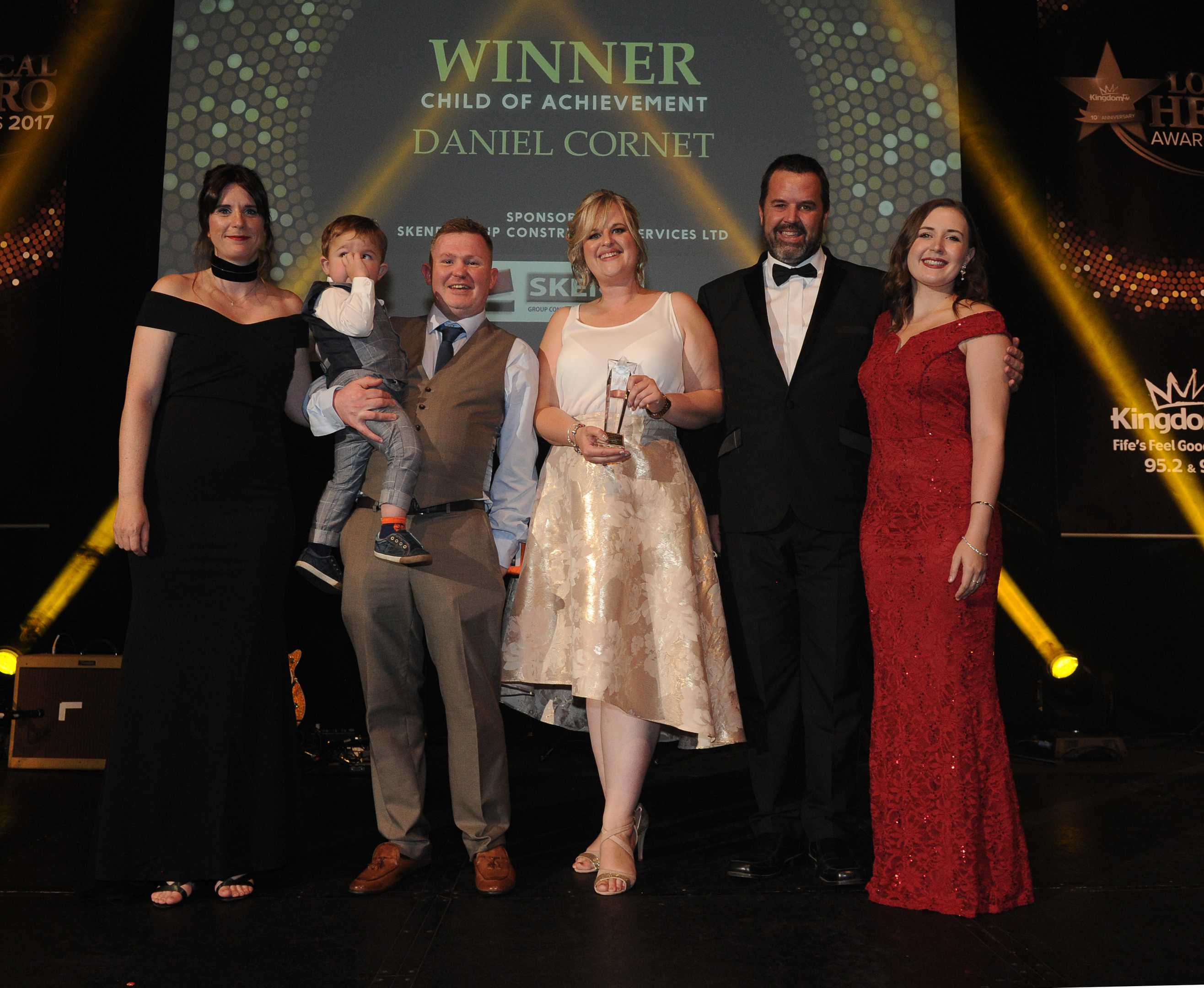 Daniel Cornet and his family picked up the Child of Achievement Award on Friday night.