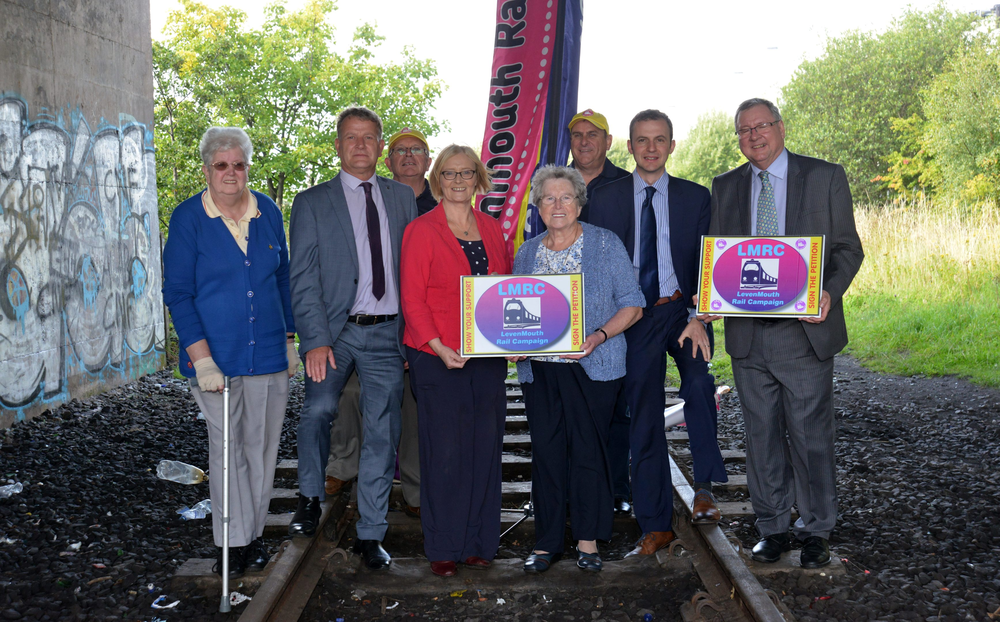 Campaigners who have been calling for a rail link